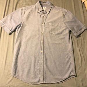 Lacoste short sleeve button up size medium 40